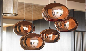 Copper Lights Swedish Room Designs